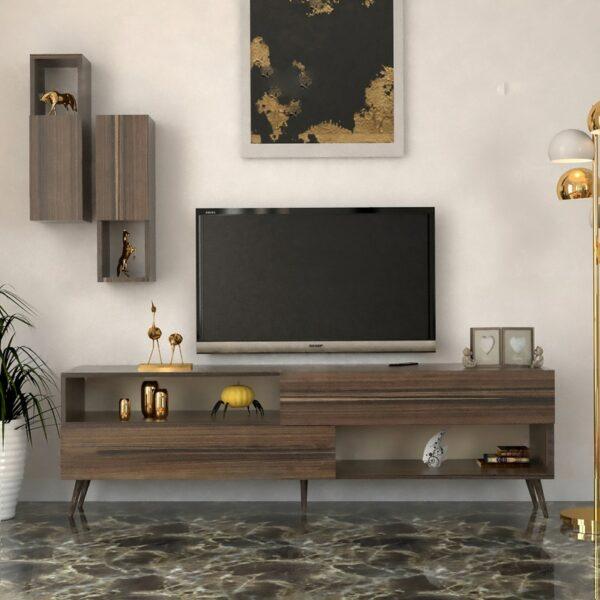 طاولة تلفزيون مودرن لون بني 03
