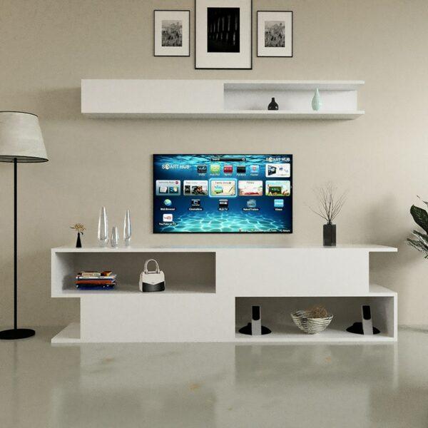 طاولة تلفزيون ديزاين تركي أبيض 12