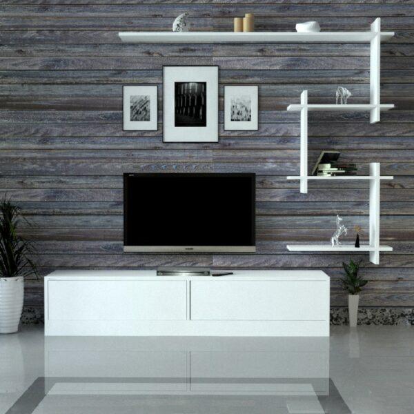 طاولة تلفاز لون أبيض 17