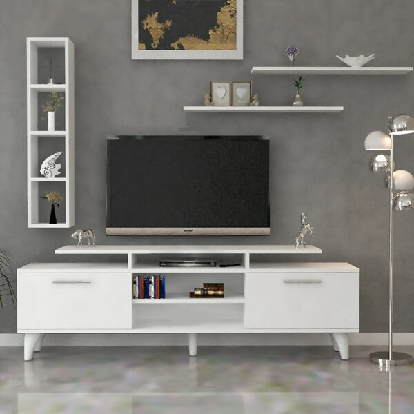 طاولة تلفاز مودرن أبيض 67