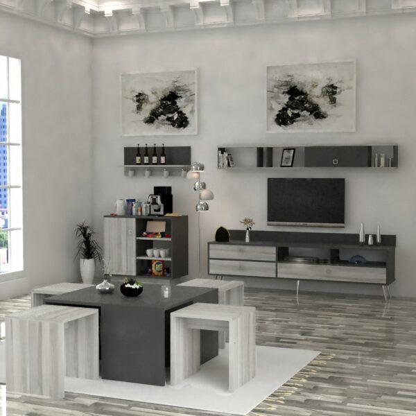 طقم طاولات تلفزيون و قهوة و ركن قهوة 0114