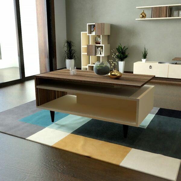 طقم طاولات تلفزيون و طاولة قهوة و زاوية لونين 0128