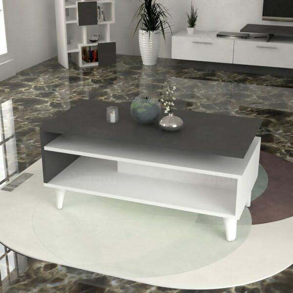 طقم طاولات تلفزيون و طاولة قهوة و زاوية لونين 0127