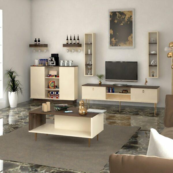 طقم طاولات تلفزيون و قهوة و ركن قهوة 0132